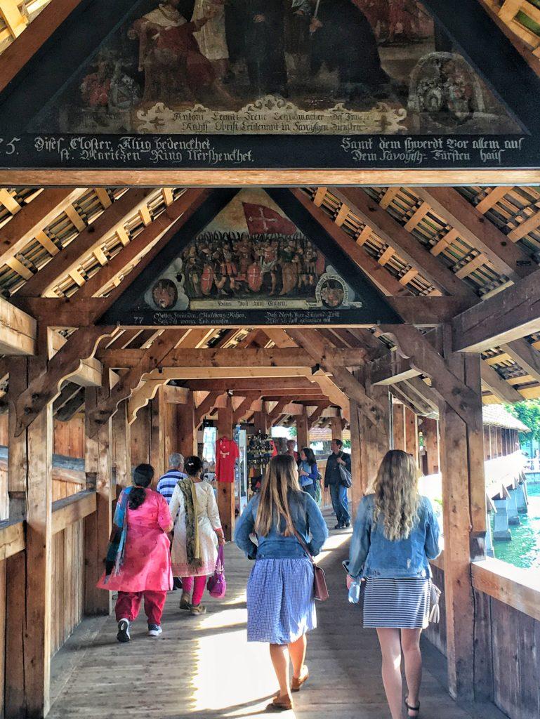 Inside Chapel Bridge