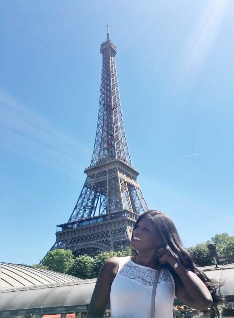 Eiffel Tower hair flip