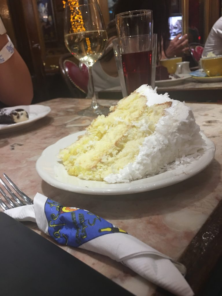 Cafe Lalo coconut cake