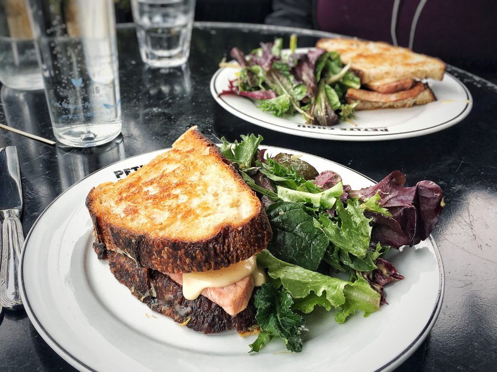 Croque Monsieur with Greens