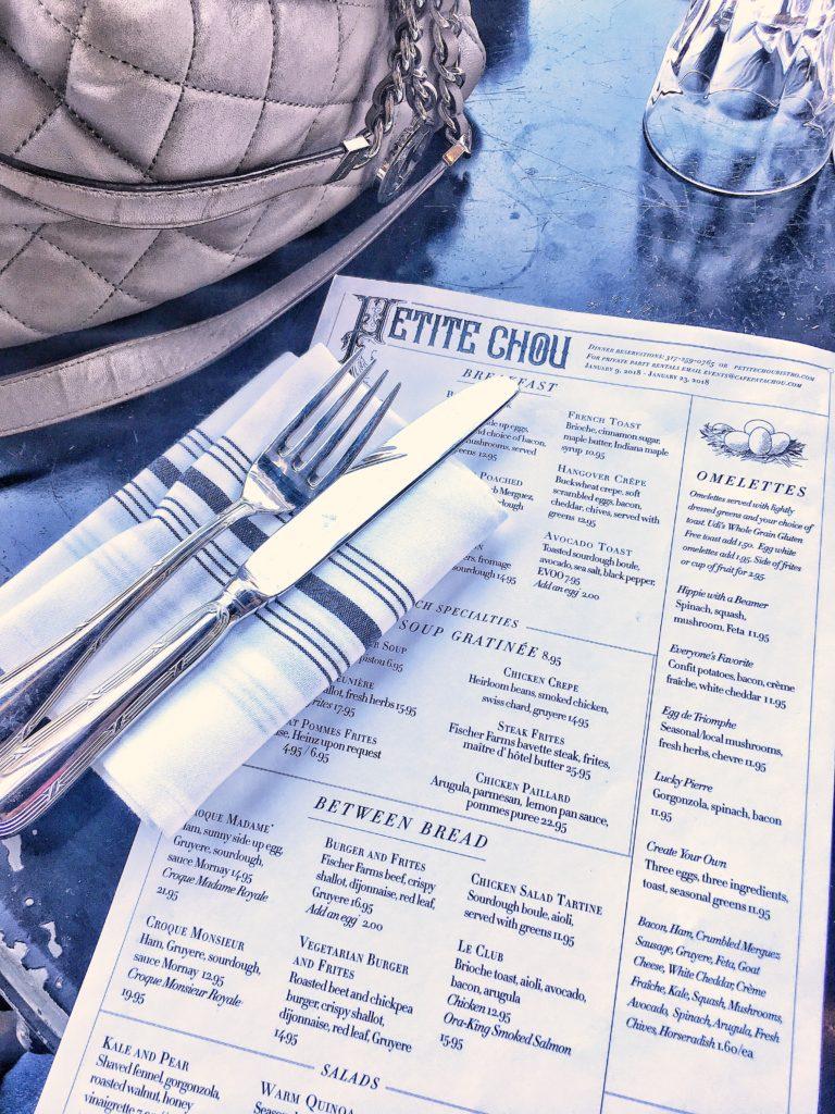 Petite Chou menu