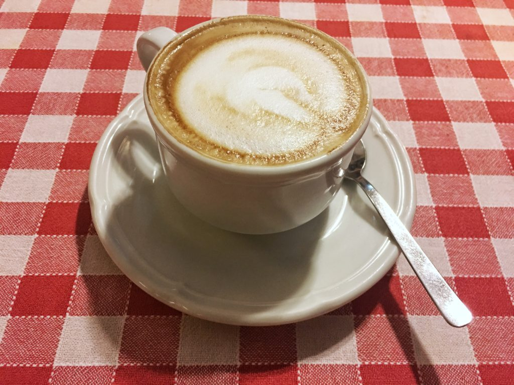 Post-dinner cappucino