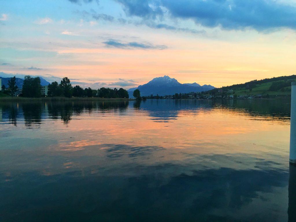 A Swiss sunset