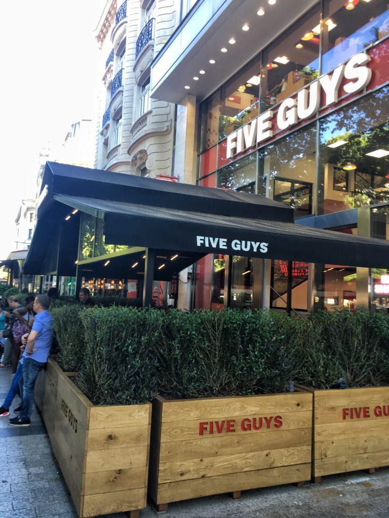 Five Guys in Paris