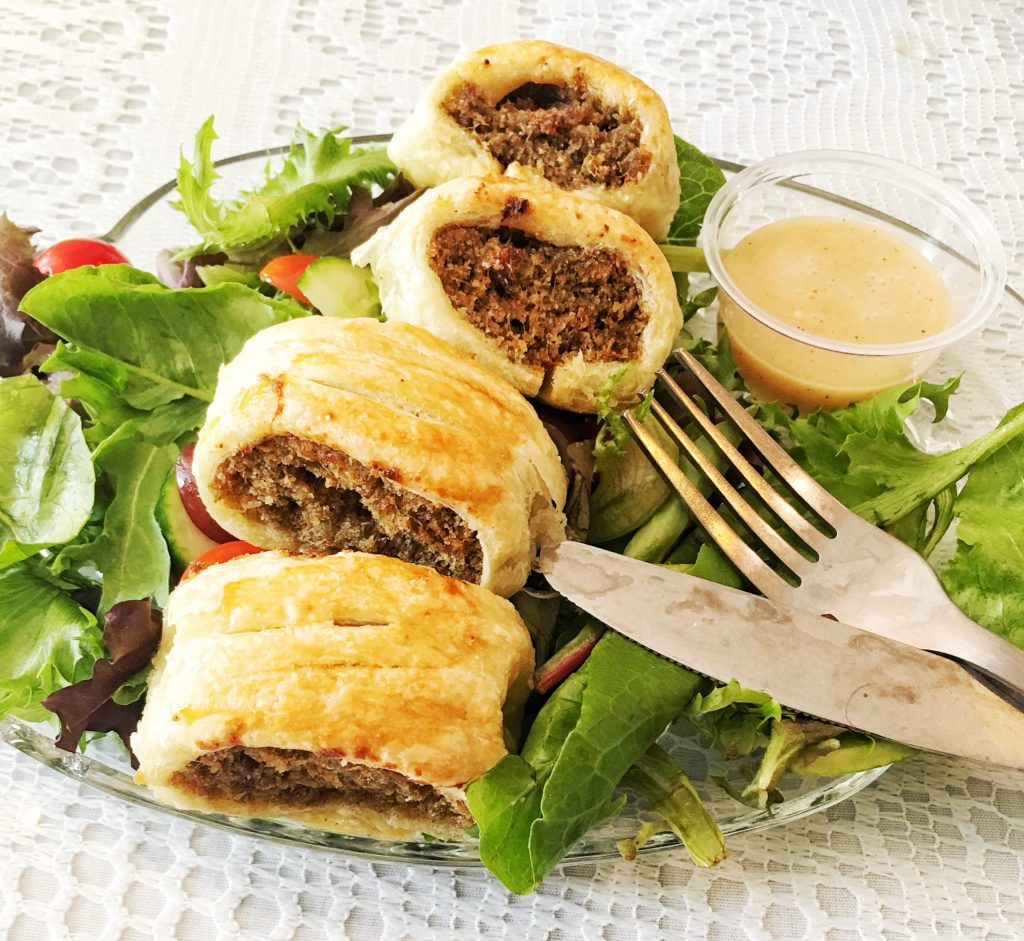 Sausage rolls for lunch!