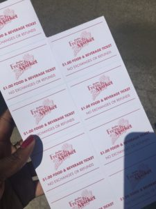 French Market food tickets