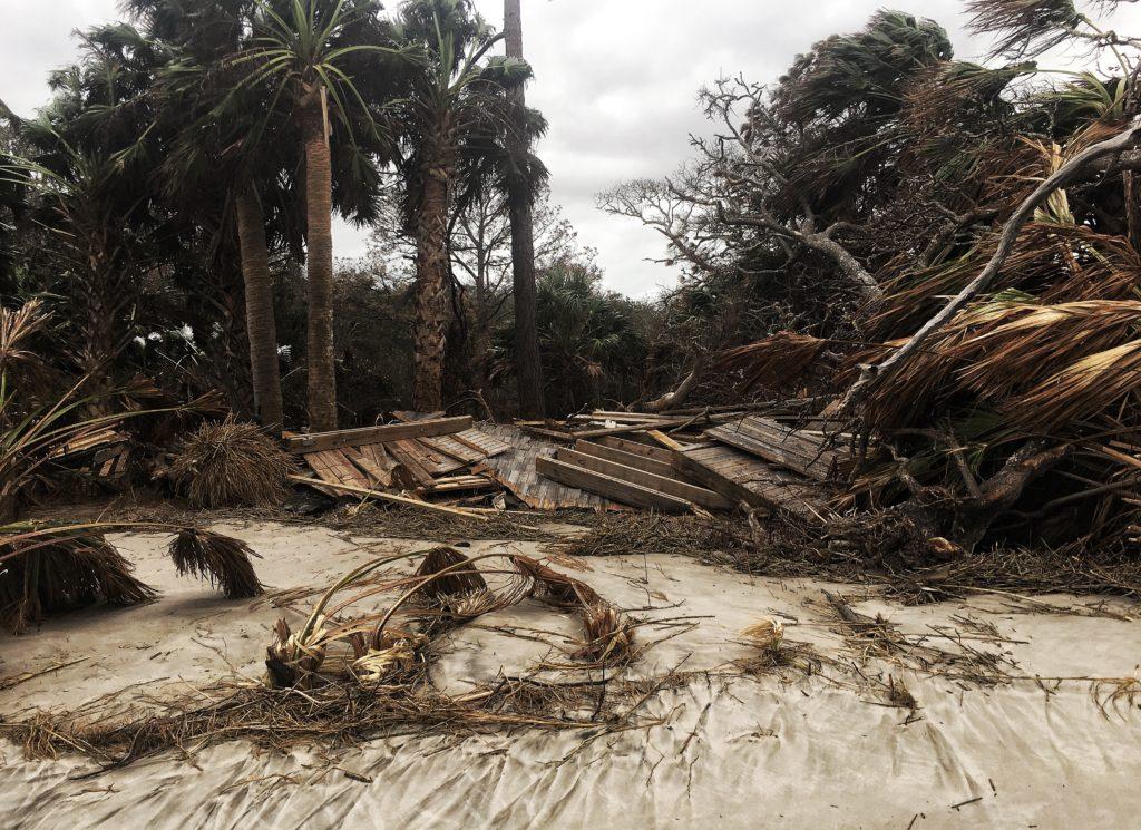 Driftwood Beach storm damage