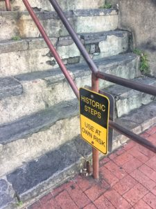 Historic Steps Sign