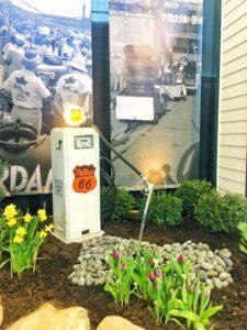 Gas pump fountain