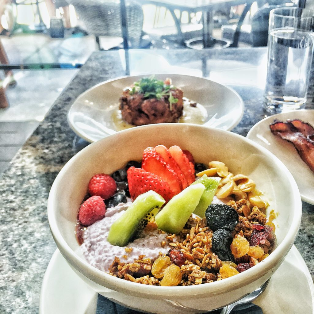 Chia seed pudding bowl - Rize restaurant