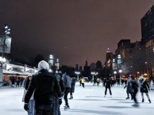 Chicago Millenium Park ice skating