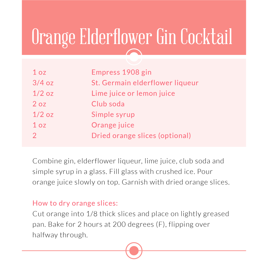 Orange Elderflower Gin Cocktail