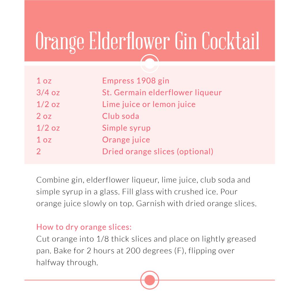 Orange Elderflower Gin Cocktail
